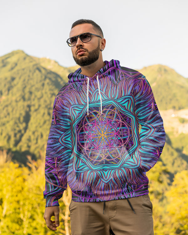 SnowFlake Flower Of Life Men's Hoodie