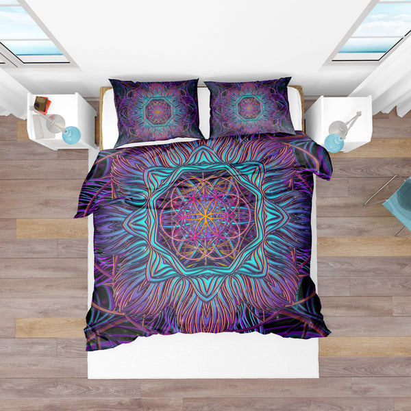SnowFlake Flower Of Life Bedding Set