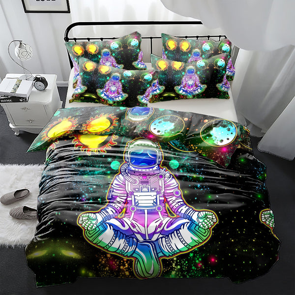 Sun&Moon Astronaut Bedding Set