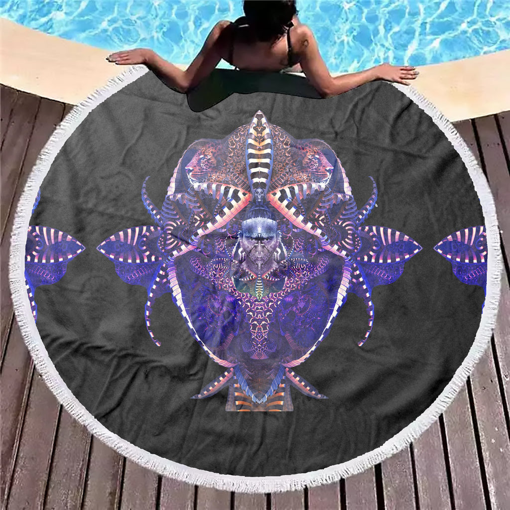 Tiger Flower Beach Blanket