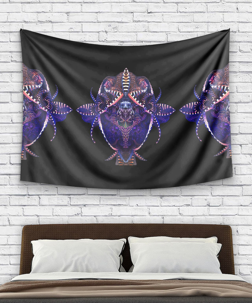 Tiger Flower Tapestry