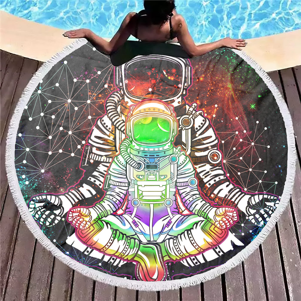 Trippy Astronaut Beach Blanket