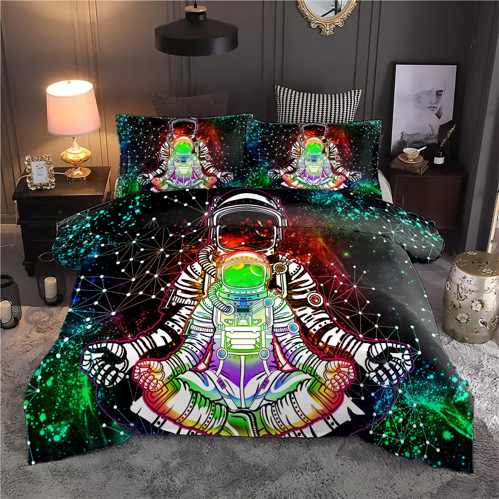 Trippy Astronaut Bedding Set