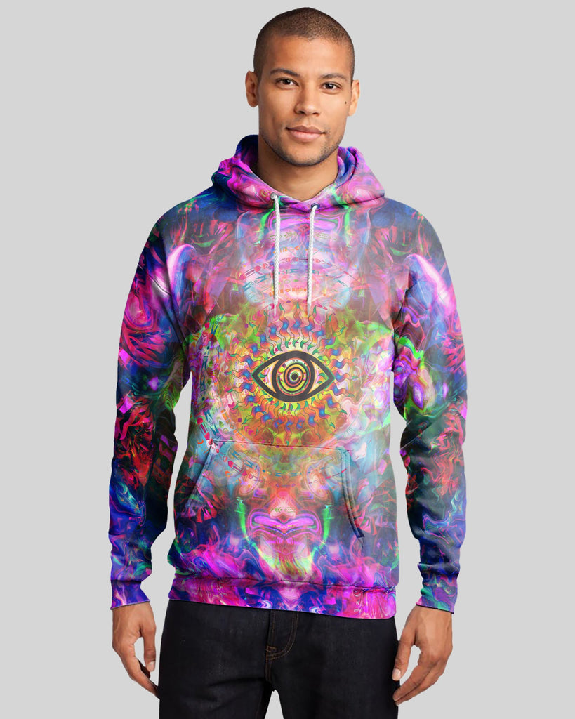 Trippy Eye Men's Hoodie