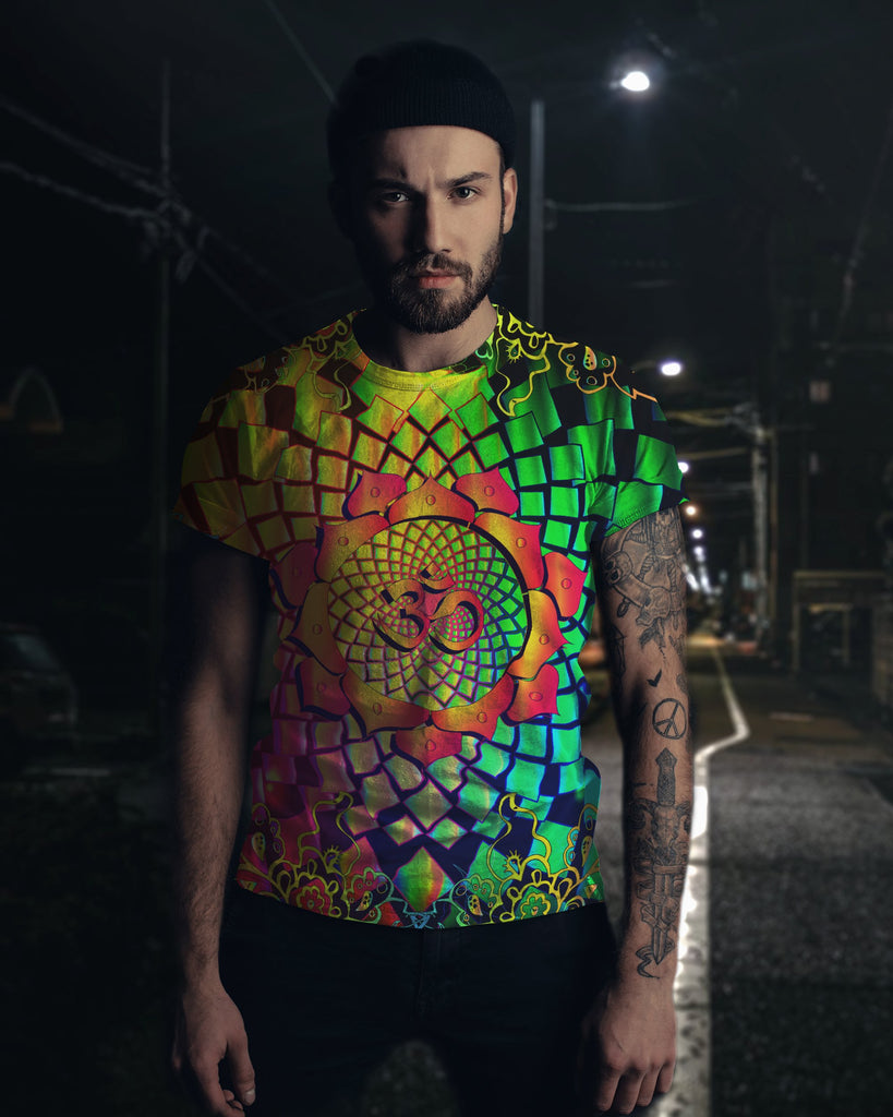 Trippy Mandala Om Men's T-Shirt