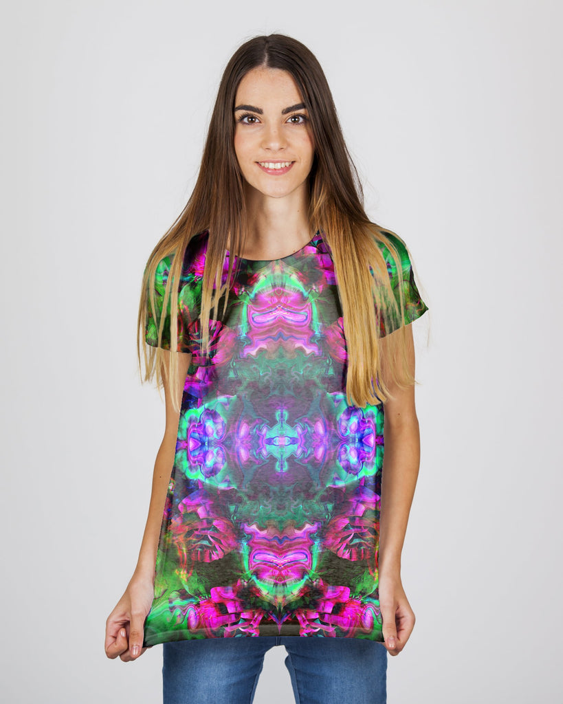Trippy Rose Green Women's T-Shirt