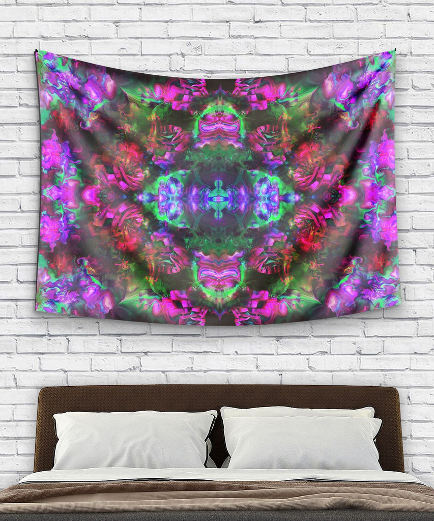 Trippy Rose Pink Tapestry