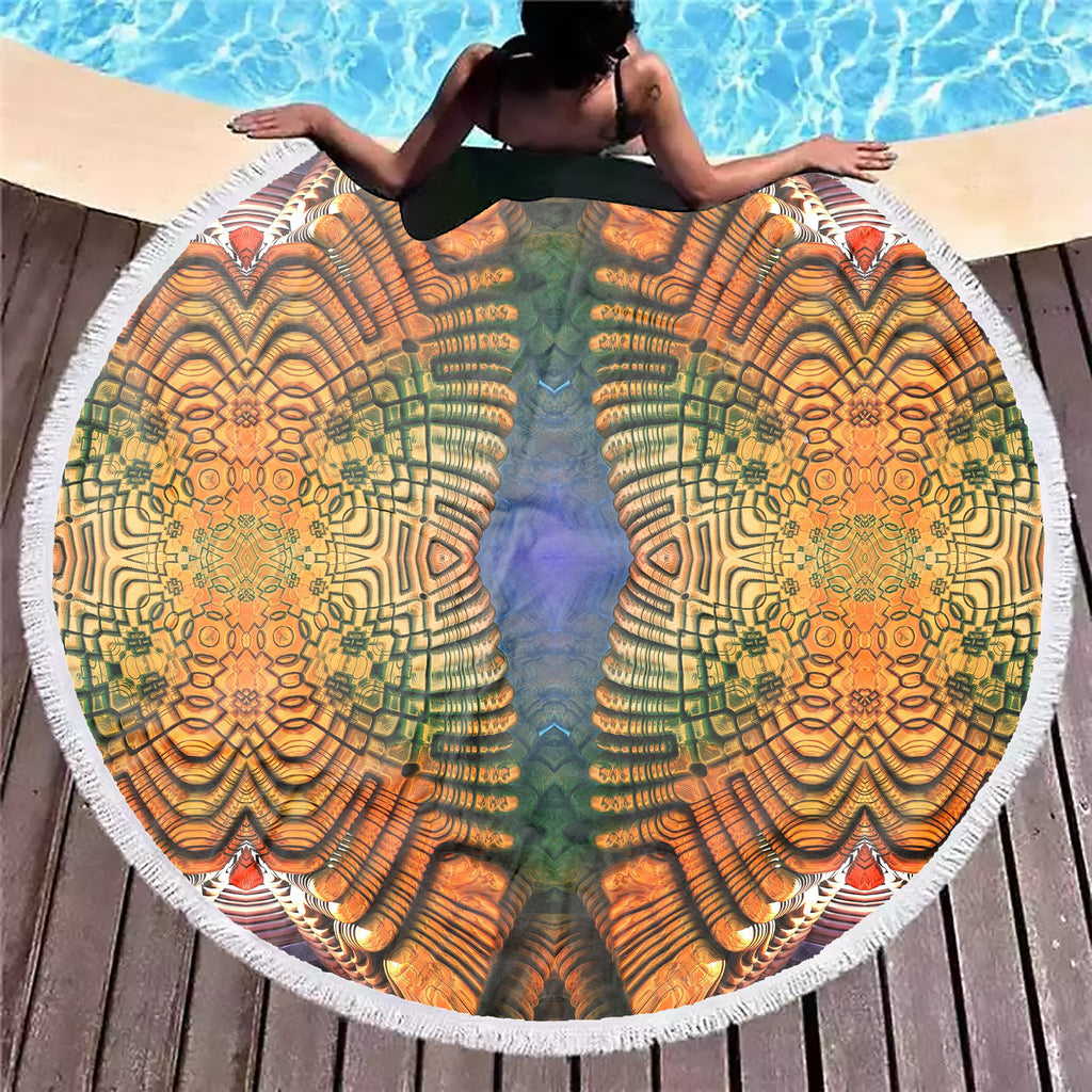 Twin Spirals Beach Blanket