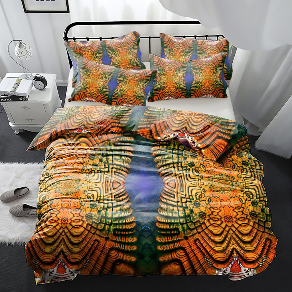 Twin Spirals Bedding Set