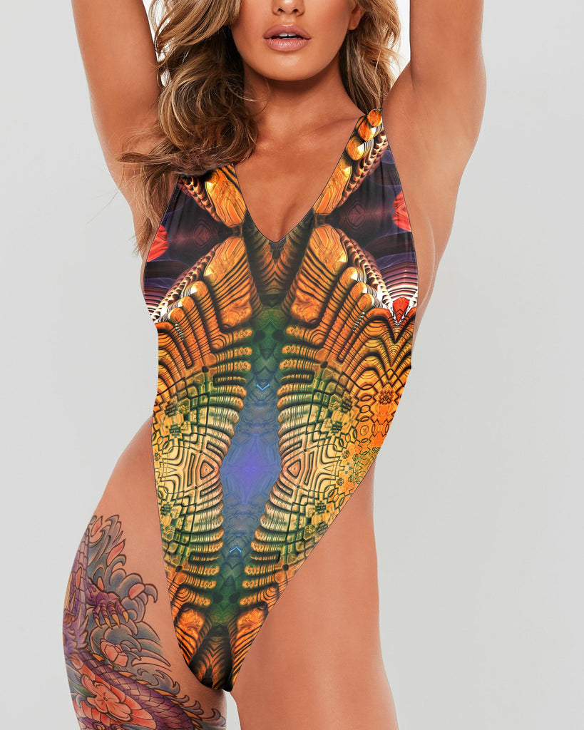Twin Spirals Full Body Swimsuit