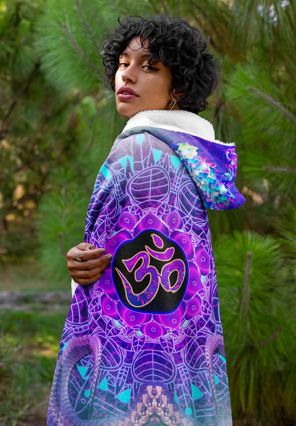 Black Goa OM Master Hooded Blanket