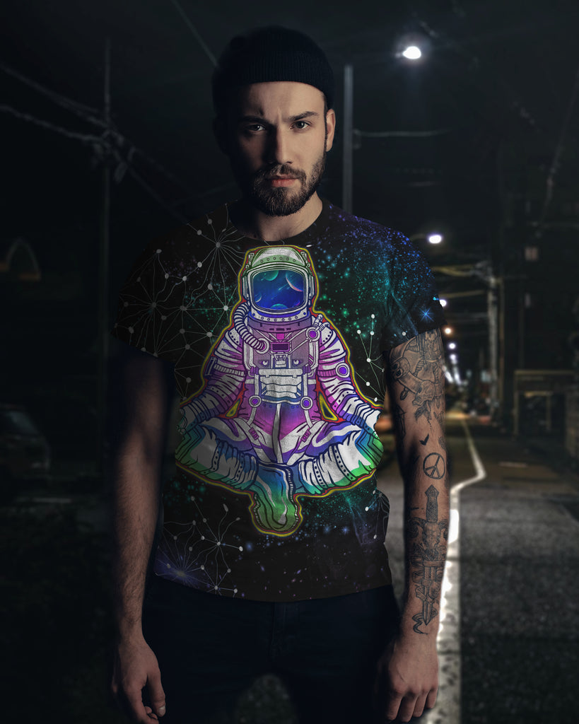 Galaxy Yoga Astronaut Men's T-Shirt