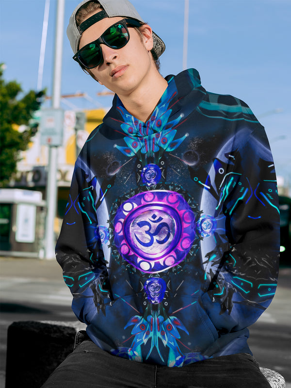 Galaxy World OM Men's Hoodie