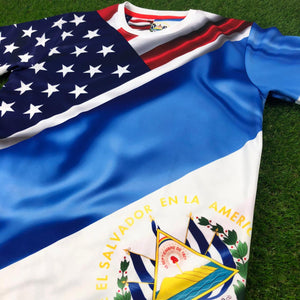 "El Salvador Short Sleeve Jersey - ""Salvis"" (Stock)"