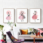 Pink Diamond Canvas Art Painting Print Poster