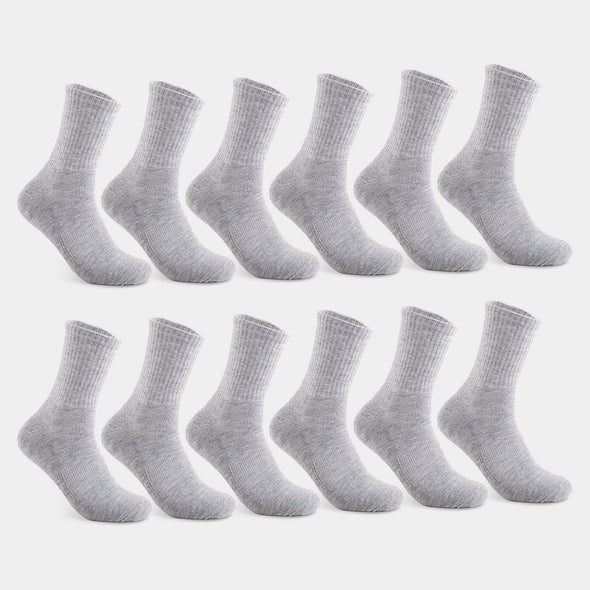 Men's Mid Crew Grey Sock