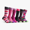 Men's Crew  Socks in Purple and Pink