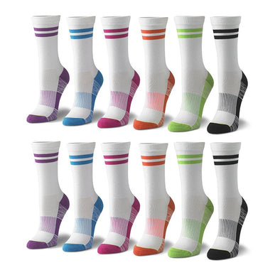 Women's Crew Solid Socks in Multicolored