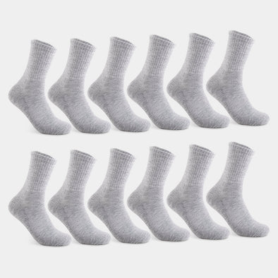 Women's Mid Crew Solid Socks in grey