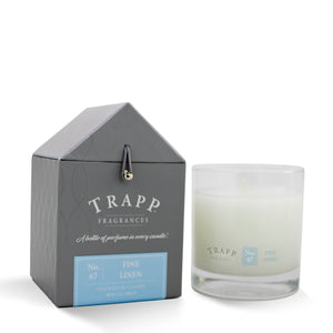 No. 67 Fine Linen - 7oz. Signature Poured Candle