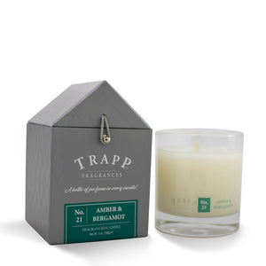 No. 21 Amber & Bergamot - 7oz. Signature Poured Candle