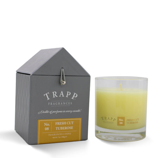 No. 8 Fresh Cut Tuberose - 7oz. Signature Poured Candle