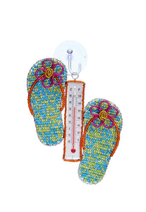 Flip Flop Window Thermometer