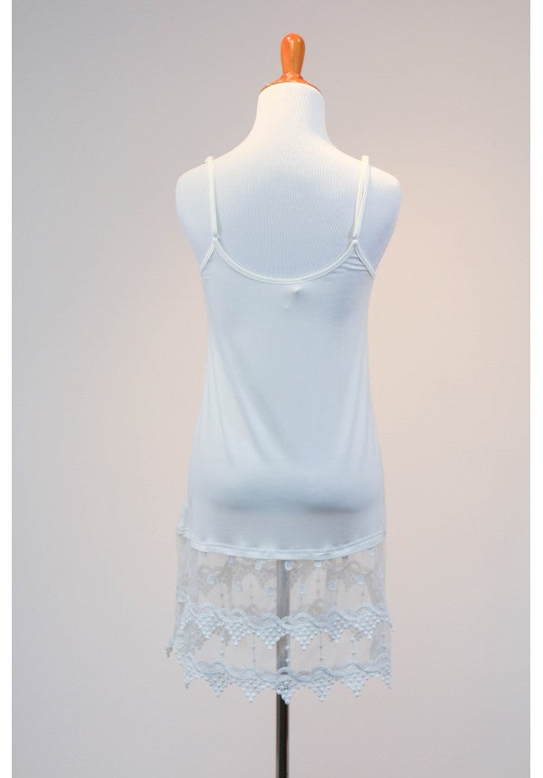 Lace Dress Extender - Bright White
