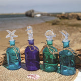 Decorative Coastal Glass Bottles Large