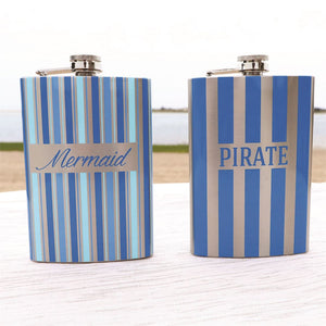 Nautical Stripe Flask