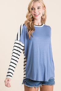 Blue Basics Striped Top
