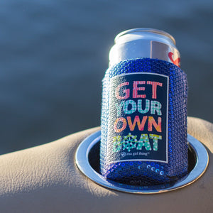 Get Your Own Boat Sequin Koozie