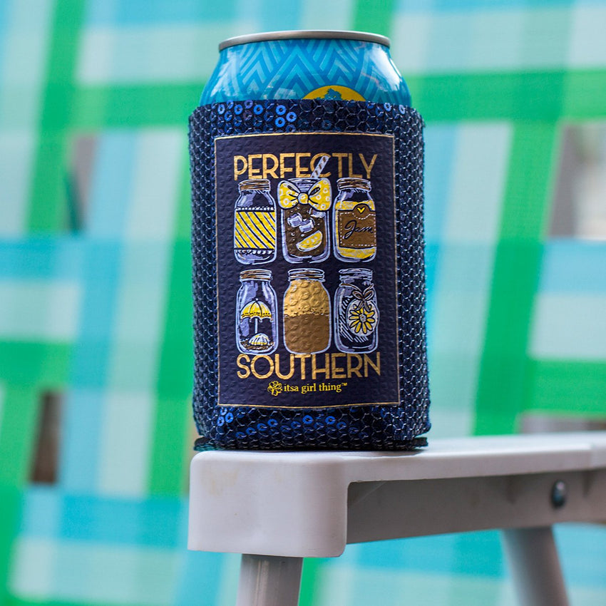 Perfectly Southern Sequin Koozie