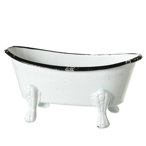 Black & White Enamel Mini Bathtub