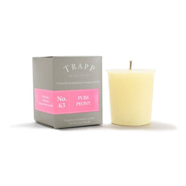 No. 63 Pure Peony - 2oz. Votive Candle