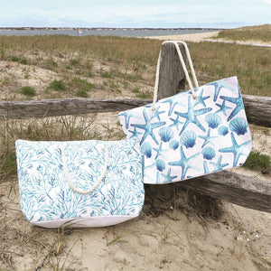 Shell & Coral Pattern Tote