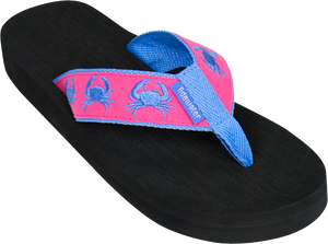 Pink & Blue Crabs Boardwalk Flip-Flop Sandals