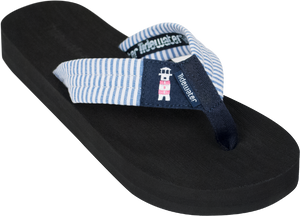 Lighthouse Stripes Boardwalk Flip-Flop Sandals