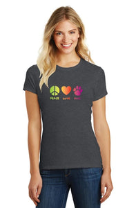 Peace Love Dog T Shirt