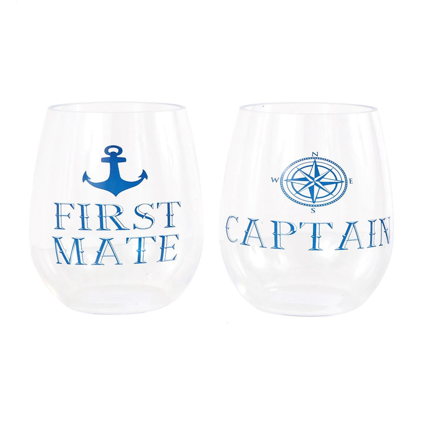 Captain/First Mate Stemless Wine Glass