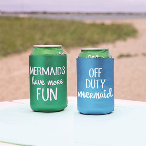 Glitter Mermaid Can Cooler