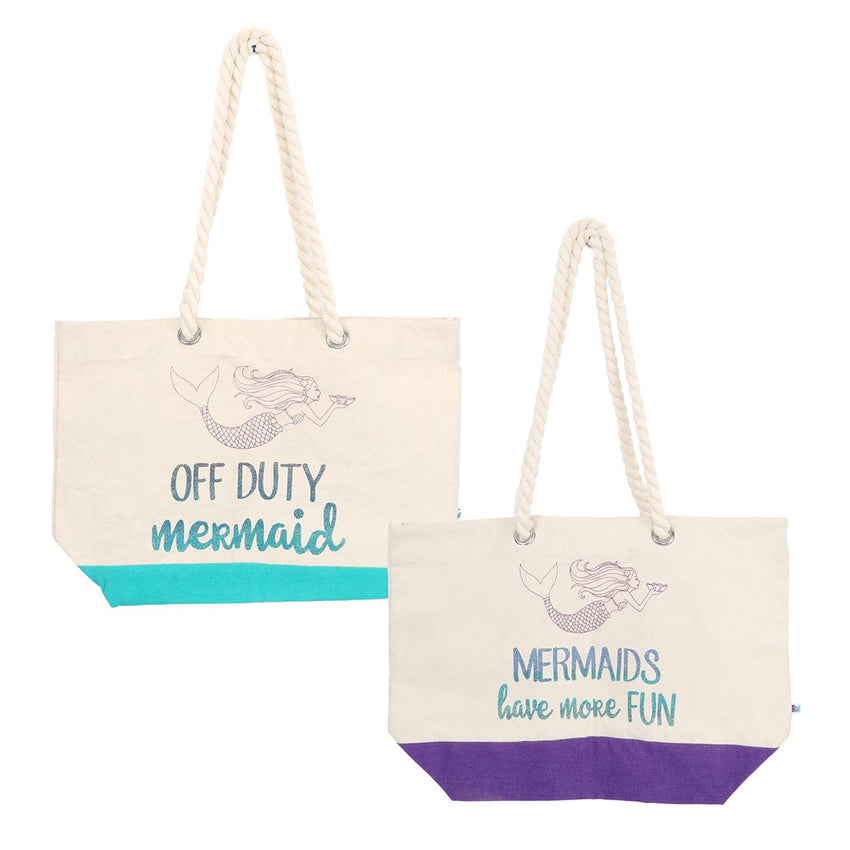 Glitter Mermaid Sayings Tote
