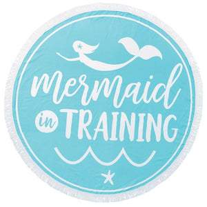 Mermaid in Training Round Beach Towel