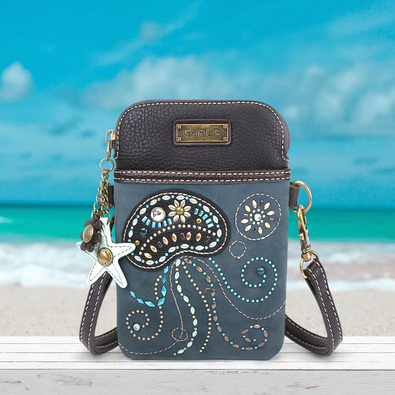 Dazzled Jellyfish Cell Phone Crossbody
