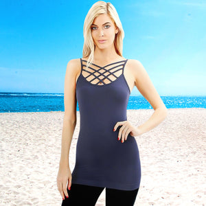 Triple CrissCross Cami - Available in 5 Colors!