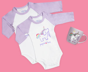 Puppie Love Unicorn Onesie