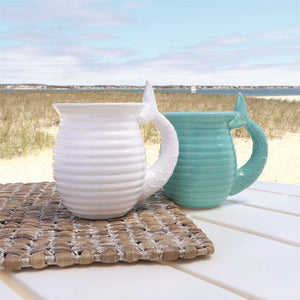 Embossed Mermaid Tail Handle Mug