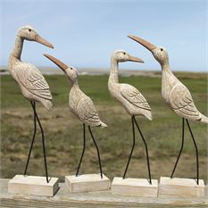 Carved Wooden Birds