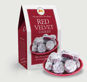 Red Velvet Cookies 5.5 oz. Carton