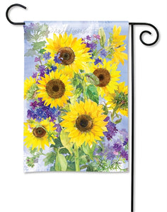 Sunflower Burst Garden Flag